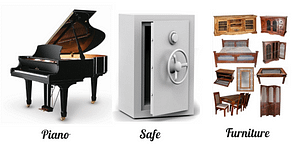 piano, safe, furniture